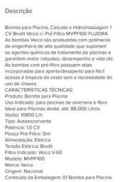 Bomba Piscina 1 Cv Bivolt Veico Pré-filtro Mvpf100 VEICO.