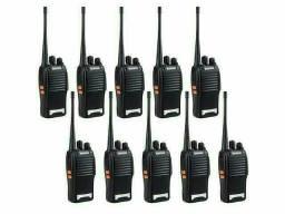 Kit 10 Rádio Comunicador Walk Talk Baofeng 777s 16 canais<br>