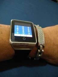 Relógio smartwatch touch screen+ pulseira inoxidávelco