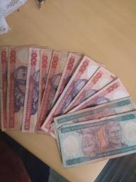 (1500 cruzeiro)   9 nota de 100 cruzeiro 3 nota de 200 cruzeiro.  Quero R$520 em tudo