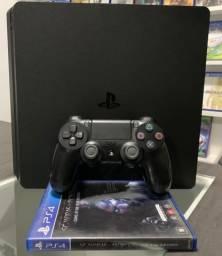 Playstation 4 Slim 500gb ( seminovo) com 1 jogo + Garantia.