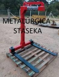 Garfo Paleteiro p/ Caminhão com Munck Guindaste 1.500kg (vermelho)