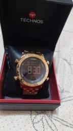 Relógio tecnos série ouro