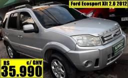 Título do anúncio: Ford Ecosport Xlt 2.0 2012 c/ GNV Automático