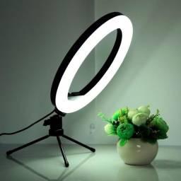 Ring Light de mesa com Led Iluminador e suporte (tripé )