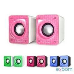 COD:0084 Caixa De Som Para Computador E Smartphone 6w Com Bass Exbom - Cs-86