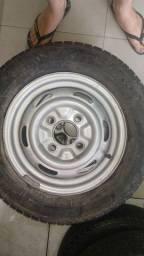 Aro 14 tala larga  com pneu