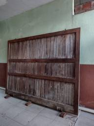 Portão de madeira Jatobá altura 2,10x2,80 largura