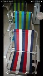 Cadeira de praia mor kit 4 peças alumínio resistente suporta até 110 kilos