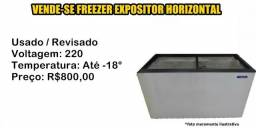 Freezer Expositor Horizontal 2 Tampas