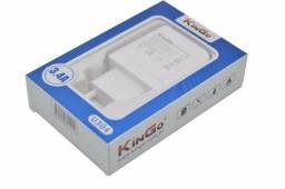Carregador Tomada Kingo Qualidade Premium 3.4a 2 Usb Original - Carga Rápida