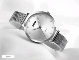 c60aca881b2 Relógio Skmei feminino prata prova d água Promoção
