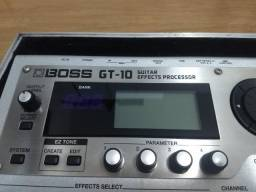 Pedaleira Boss GT10 com Hard Case