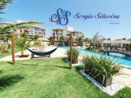Apartamento no Palm Beach Residence Porto das Dunas térreo e mobiliado