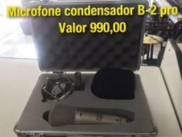 Microfone condensador B-2 pro sem uso