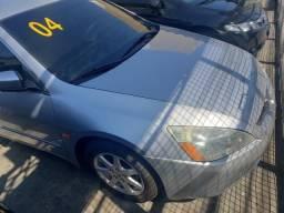 Honda Accord 2004 ex 2.4 aut prata(lindo!)toplinha+couro+revisado+novo=0km! - 2004