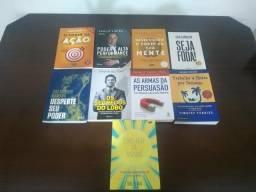 Lote com 9 livros