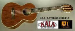 Kala KA8 ukulele Tenor profissional 8 cordas em Mogno novo na loja AT Proaudio!