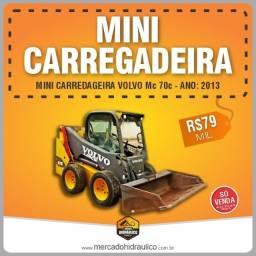 Mini Carregadeira Volvo MC70C / 2013 ? Apenas 1800 horas de uso!