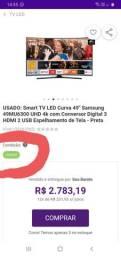 Vendo TV 50 polegadas da Samsung 4k curva