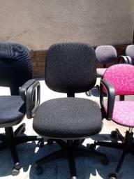 Cadeira modelo diretor com tecido NOVO preto escritorio casa