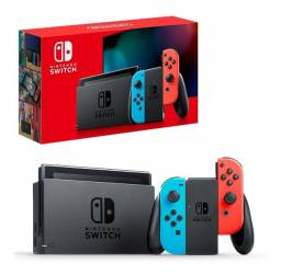 Nintendo Switch Neon lacrado e sem juros