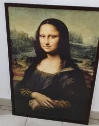 Quadro de Gravura da Mona Lisa