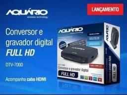 Conversor Digital e Gravador Digital Full Hd Ddt 7000 Aquário