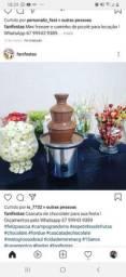 Cascata de chocolate - leia o anúncio.