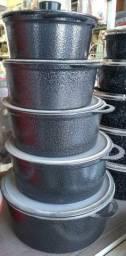 Jogo de Panelas craqueada alumínio fundido NOVAS