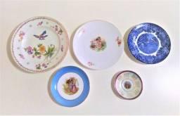 Prato de porcelana antigo -valor unitário - leia
