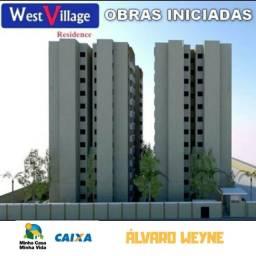 Apartamento novo 2 quartos no Alvaro Weyne / prox a Barra do Ceará