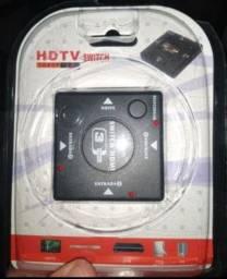 Adaptador HDMI três saída HDMI novo