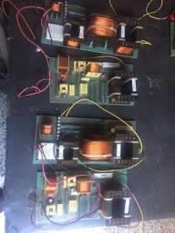 """Dóis divisores de frequência monitor Staner Stage 212T, crossover passivo"""""""