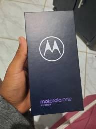 "Smartphone Motorola One Fusion 64GB 4G 4GB RAM Tela 6,5"" Câm. 48MP"