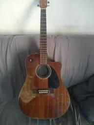 Violão Fender CD 60 CE 096 1590 Folk Elétrico ALL Mohogany + Case