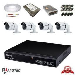 Kit Cftv com Câmeras 4 câmeras com instalação inclusa! O MELHOR PREÇO DO MERCADO