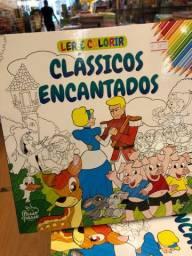 Clássicos encantados ler e colorir