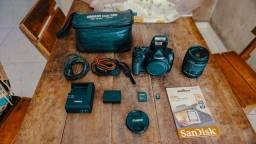 Canon T6 + Bolsa + Lente 18-55mm + Cartão 16gb