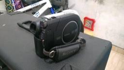 Caixa amplificada + microfone sem fio + filmadora digital