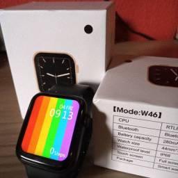 Relógio Inteligente Smartwatch w46 Prova D'Água Tela Infinita