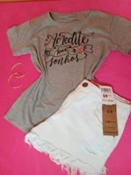 T-shirts 17 reais