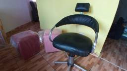 Cadeira salão e puff