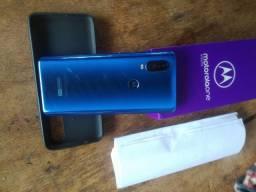 Moto one vision 128gb , pego celular com volta, que tenha caixa e carregador original