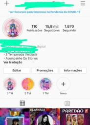 Vendo página do Instagram