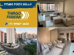 Pituba Porto Bello, 3 quartos, 1 suite, armários,97m² em Loteamento Aquarius
