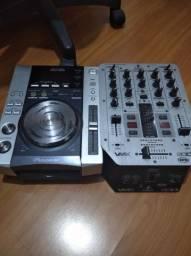 Cdj-200 Pioneer e Mixer Behringer Vmx200