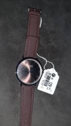 Relógio social couro (novo)