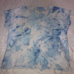 T-shirt tie day azul