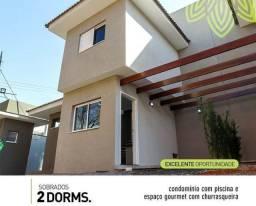 Sobrado em Condomínio 65m 2dorm R$245.000 MUDE JÁ!